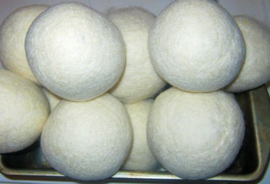 Organic Dryer Balls, Solid Wool!